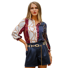 2019 spring new shirt bohemian holiday style womens tops and blouses N30D