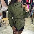 2016 nova moda curto mulheres jaqueta casaco fashion de algodão acolchoado jaqueta outwear Alta Qualidade parka Quente Roupas das Mulheres 5 cores