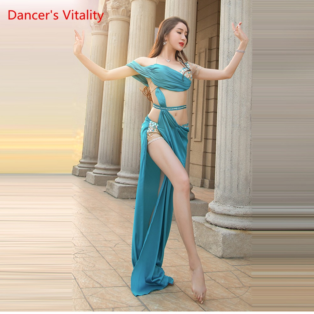 Women Spandex Belly Dance Belly Dance Costume Belly Dance Professional Set women Bra + Skirt 2 pcs
