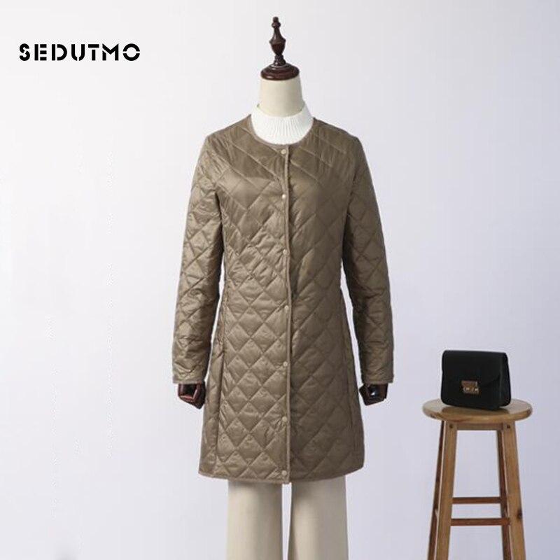 SEDUTMO Winter Long   Down   Jackets Women Plus Size 4XL Ultra Light Duck   Down     Coat   Casual Black Puffer Jacket Autumn Parkas ED742