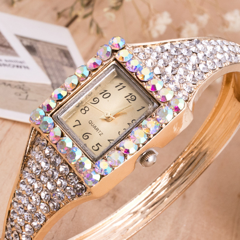 Fashion 2019 Watch Luxury Crystal Gold Watches Women Bling WomensLuxury Quartz Wrist New