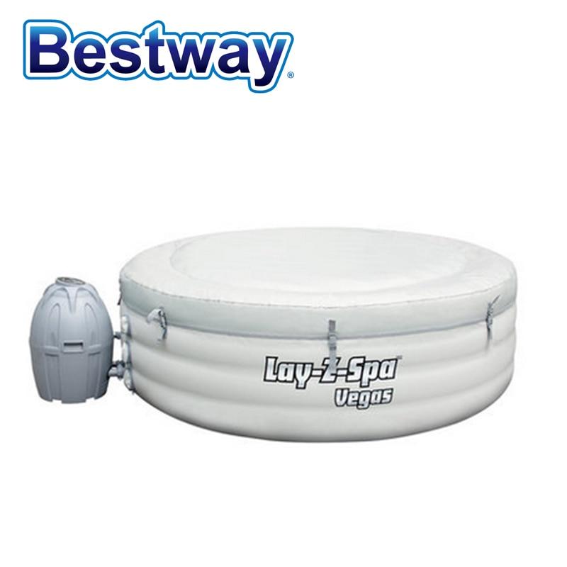 """54112 Bestway 77 """"x24"""" Kolam renang kembung menebal bulat untuk Keluarga 196x61cm BestWay Lay-Z-Spa Las Vegas SPA Movable SPA"""