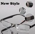 Atacado famoso designer da marca de óculos óculos de metal Meia-rim frame ótico eyewear para mulheres dos homens óculos de Miopia 8005