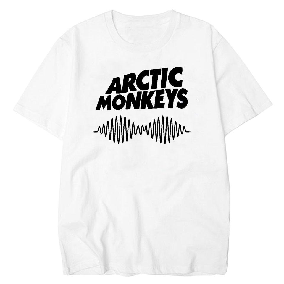 In The Cheapest Price Lettbao Arctic Monkeys Cotton Tee Shirt Men Band Mens Tshirt Summer White Harajuku Hip Hop Tee Basic T-shirt Printed T Shirt Fragrant Flavor