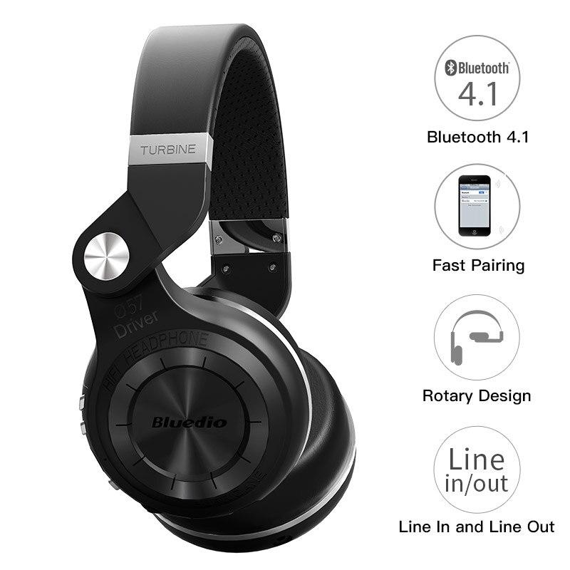 Bluedio TS Wireless Foldable Bluetooth Earphones black