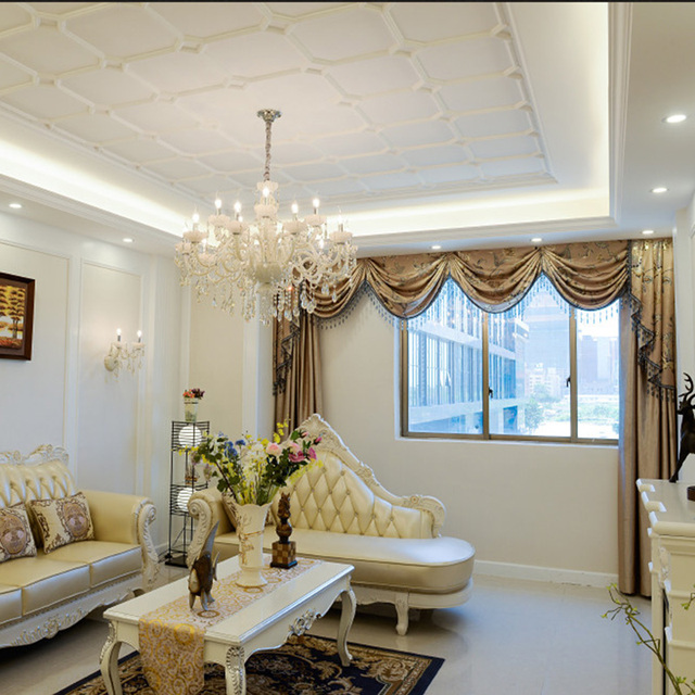European Crystal Chandelier Candle Lighting Used In Living Room Dining Bedroom Staircase