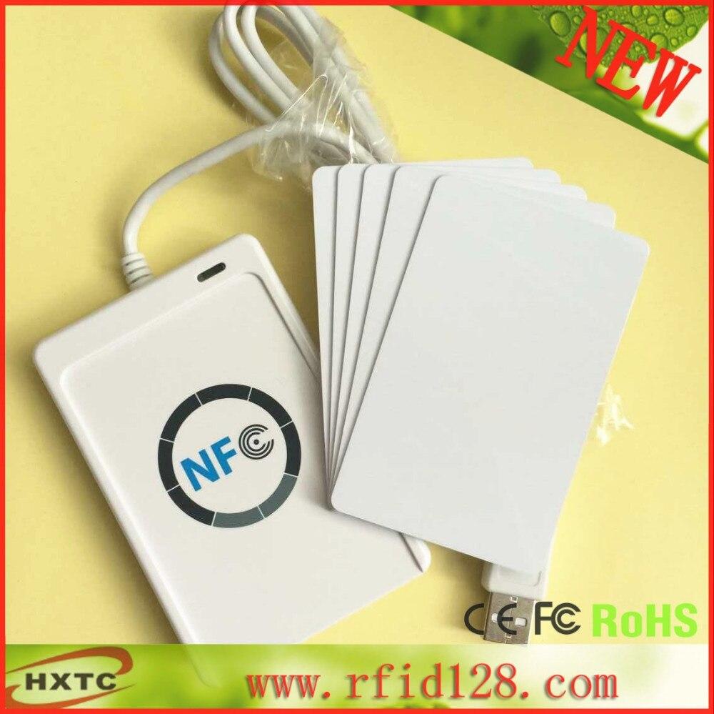 13.56 MHZ RFID NFC כרטיס חכם אנדרואיד NFC Reader Writer # ACS ACR122U לקרוא סופר Ntag213 NFC Tag/S50 כרטיס שבב/ UID כרטיס &SDK