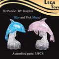 3D Crystal Dolphin Blocks Home Furnishing Jewelry,DIY Educational Toys Gift for Kids ,Three-Dimensional Toys for Adult