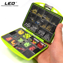 100Pcs/box Fly Fishing Accessories Box with Fishhooks Float Lead Sinker Swivel Connector Beads Fishing Tackle Hot Sale