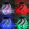 Mosaic Glass RGB LED Solar Garden Light Outdoor Solar Power Table Lamp Solar LED Night Light