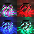 Mosaic Glass RGB LED Solar Garden Light Outdoor-Solar Power Table Lamp - Solar LED Night Light Nightlight Free Shipping