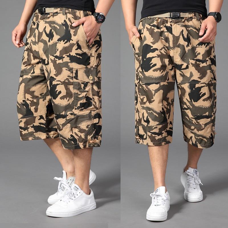 Plus size 44 46 48 50 men cotton Calf-Length Pants male baggy camouflage hip hop Military hip-hop large Harem pants trousers