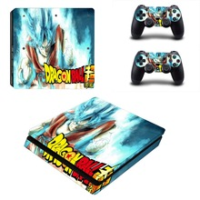 Anime Dragon Ball Super PS4 Slim Skin Sticker For PlayStation 4 Console and Controller For Dualshock 4 PS4 Slim Sticker Decal