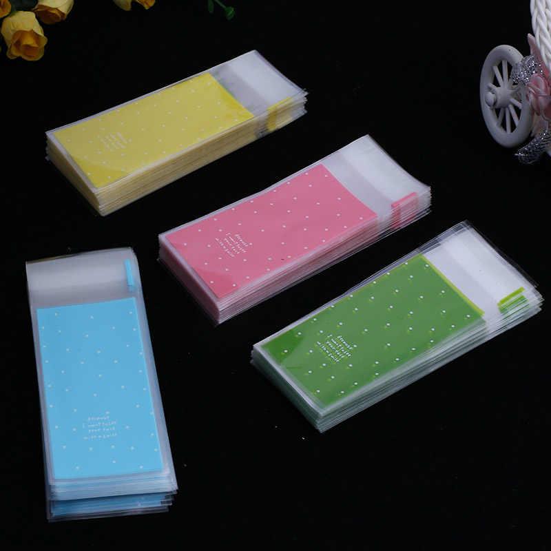 ใหม่100ชิ้นมินิพลาสติกc ookieบรรจุภัณฑ์5x10เซนติเมตรกระดาษห่อคัพเค้กถุงoppถุงกาวตนเองถุงของขวัญถุงขนมลิปสติกpackag