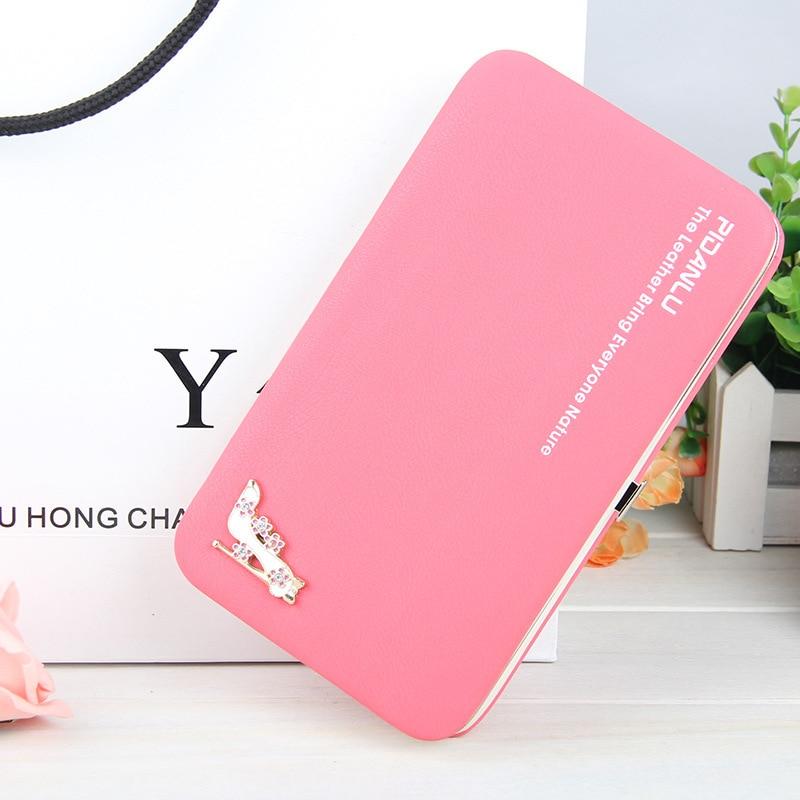 PU female wallet, multi-function mobile phone bag ladys purse long style pencil box zero purse,
