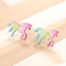 Colorful Glittering Unicorn Earrings