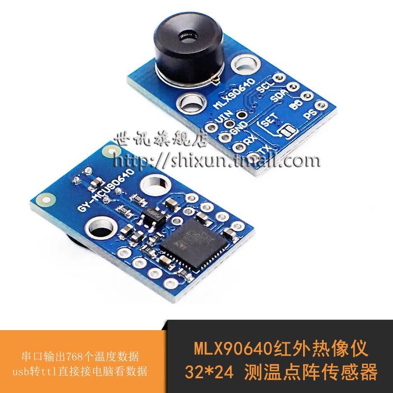 MLX90640 Infrared Thermal Imager Sensor Module IR Is Close to Sensing 32*24 Temperature Sensor. thermal temperature sensor module water sensor module for moisture drop depth of water test
