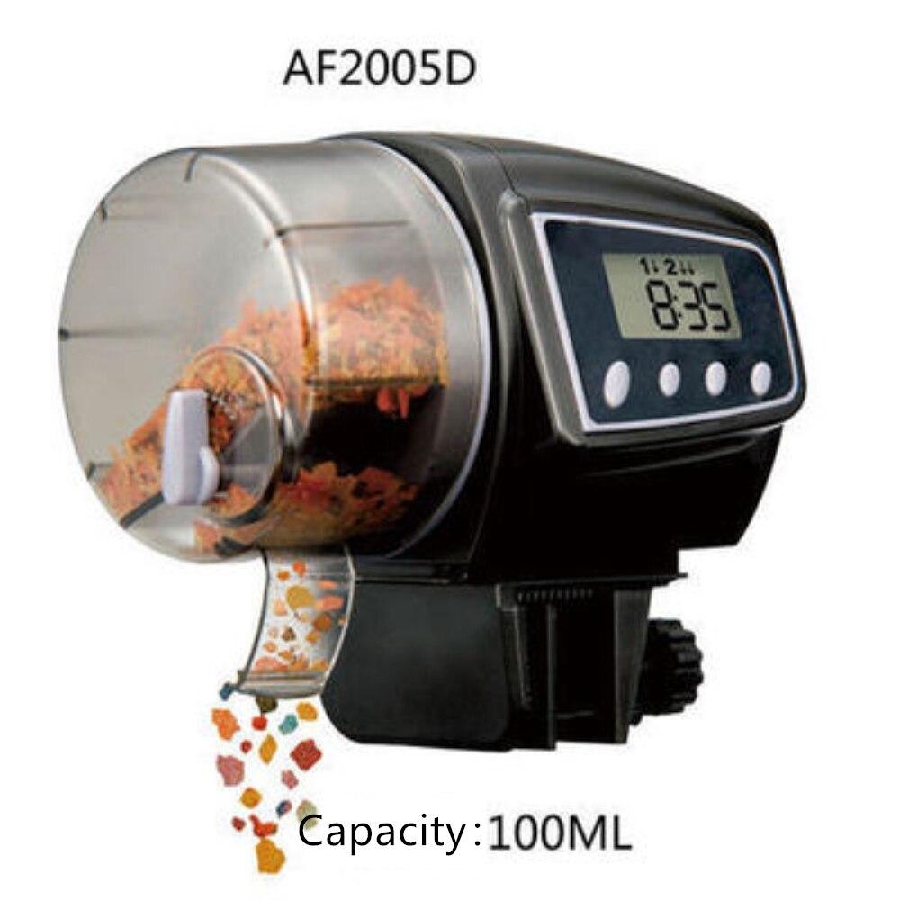 LED Digital Automatic Aquarium Serbatoio Auto Pesce Alimentatore di Grande Capacità di Pesci D'acquario Alimentatore 65-160 ml