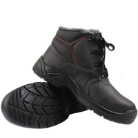 Winter Military Leder Stiefel Spezielle Kraft Taktische Stiefel Null Grad Lamm Kaschmir Schuhe Outdoor Anti statische Warme Stiefeletten-in Sicherheitsschuhe aus Sicherheit und Schutz bei