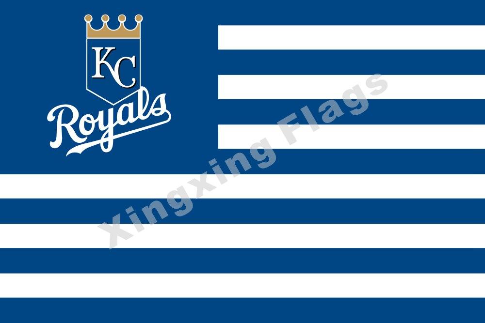 ΞKansas City Royals Nation Flag Stripe 3ft X 5ft Polyester MLB ...