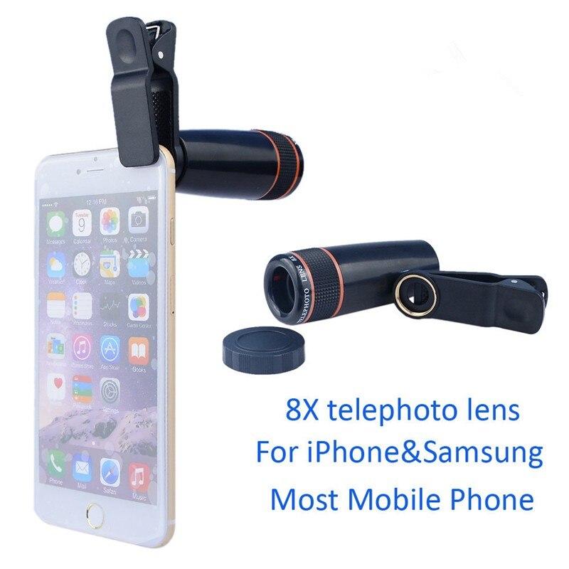 16 New 10in1 Phone Camera Lens Kit 8x Telephoto Lens + Wide Angle + Macro Lens +Fish Eye +Selfie Stick Monopod + Mini Tripod 7