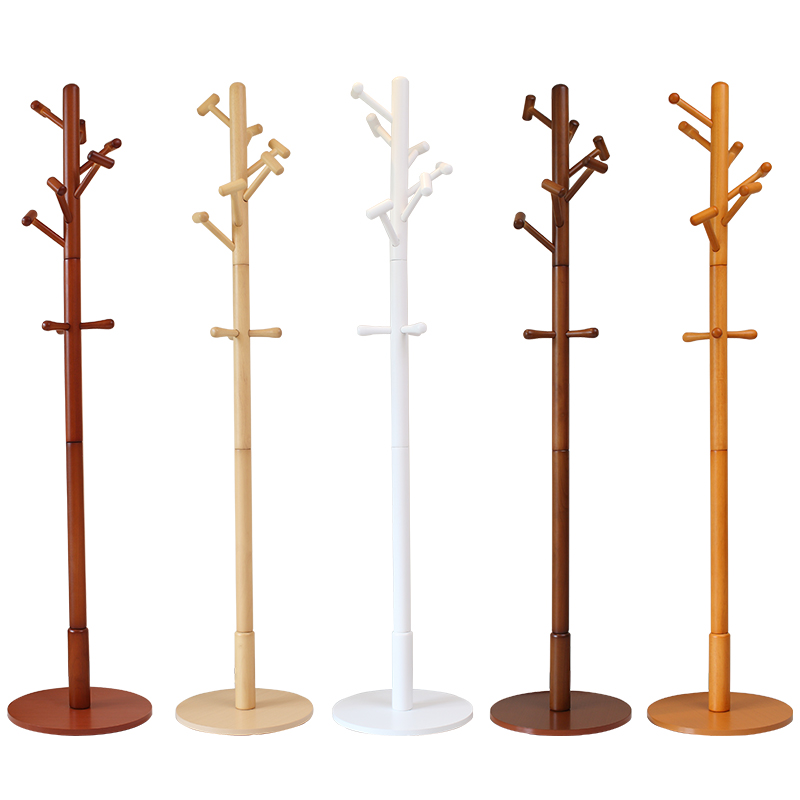 Modern Luxury Hall Tree Wood Coat Rack Stand Furniture Bedroom Living Room Clothes Hat Display Clothing Rack Floor Hook Hanger inness sturdy coat rack solid rubber wood hall tree with tripod base suitable for aduit bule