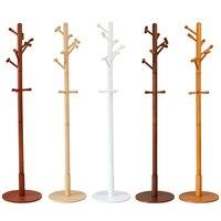 Modern Luxury Hall Tree Wood Coat Rack Stand Furniture Bedroom Living Room Clothes Hat Display Clothing Rack Floor Hook Hanger