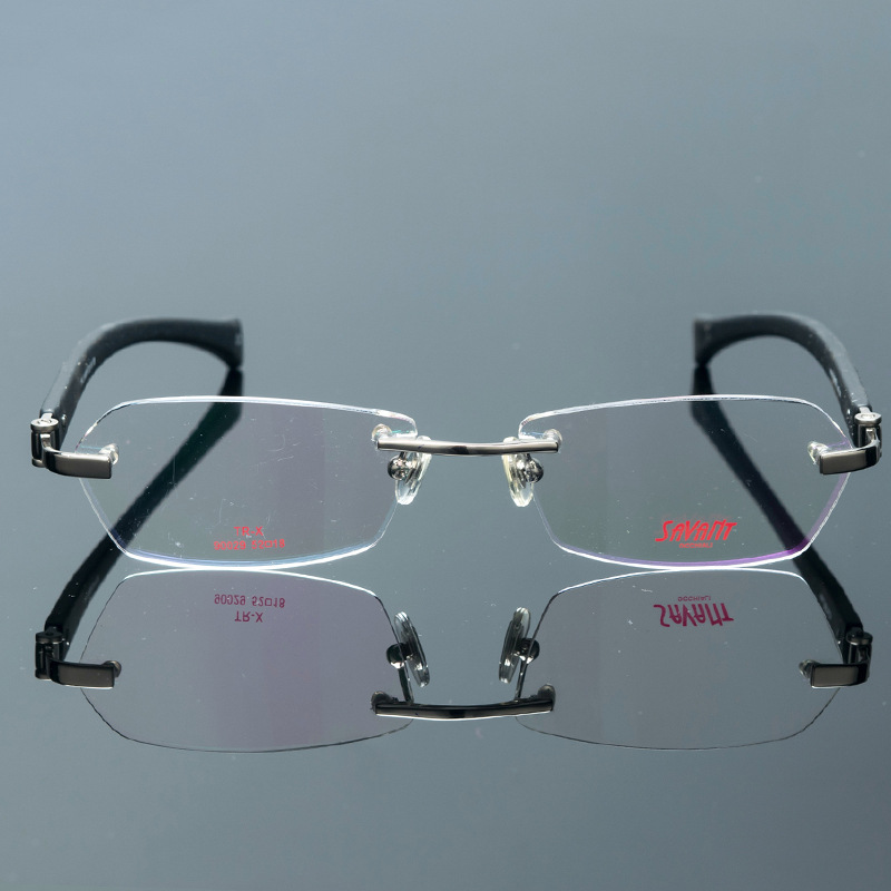Acetate Frameless Glasses Frame Men Women Rimless Myopia Eyeglasses ...