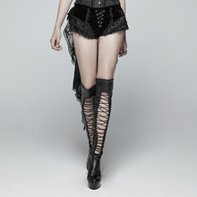 PUNK RAVEwomen Gothic Shorts Swallow Tail Shorts Fashion Retro Lacing Victorian Sexy Palace Steage Performance Shorts цена