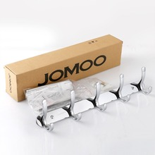 JOMOO Robe Hook Wall Hooks Nail Coat Hook Zinc Chrome Kitchen Key Holder Wall Mounted Clothes Hat Hooks Bathroom Accessories