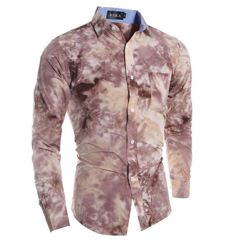 1873a6560 Camisa dos homens 2017 Verão Nova impressão 3D camisa Moda Casual Slim Fit camisa  masculina chemise homme Camisas de Manga Longa