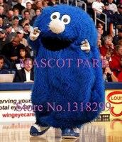 Anime Cosplay azul Blob Mascot Costume dos desenhos animados caráter longas pelúcia tema Mascotte fantasia vestido Kits para desporto escolar