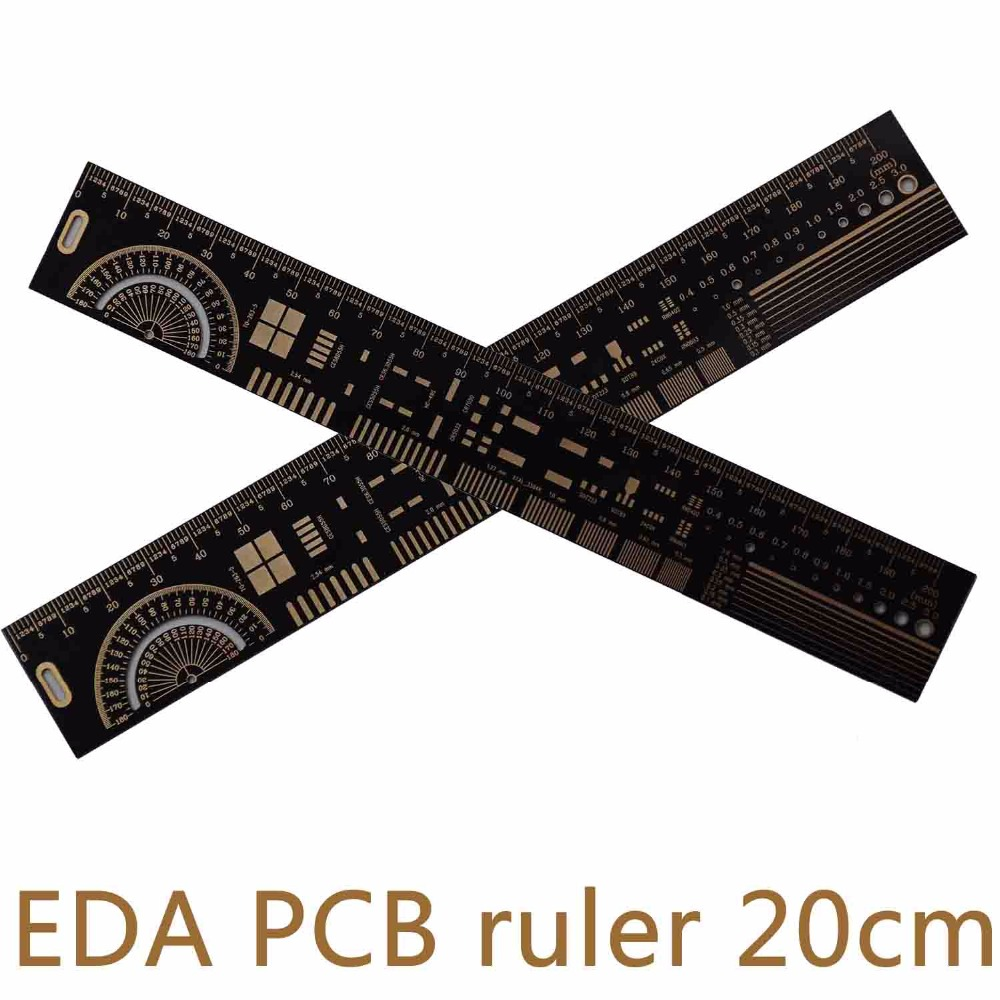 Multifunctional PCB Ruler EDA Measuring Tool Accurate Metal High Precision Protractor 20CM 7.8 Inches