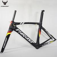 700C New Carbon Road Frame PF30 Di2 Full Carbon Fiber Road Bike Frame 49 52 54