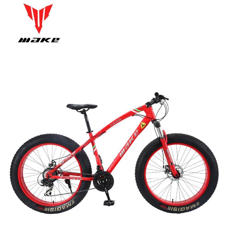 Make F430 Fatbike MTB Mountain Bike Bicycle 24 Speed SHIMAN0 26x4.0 Wheels