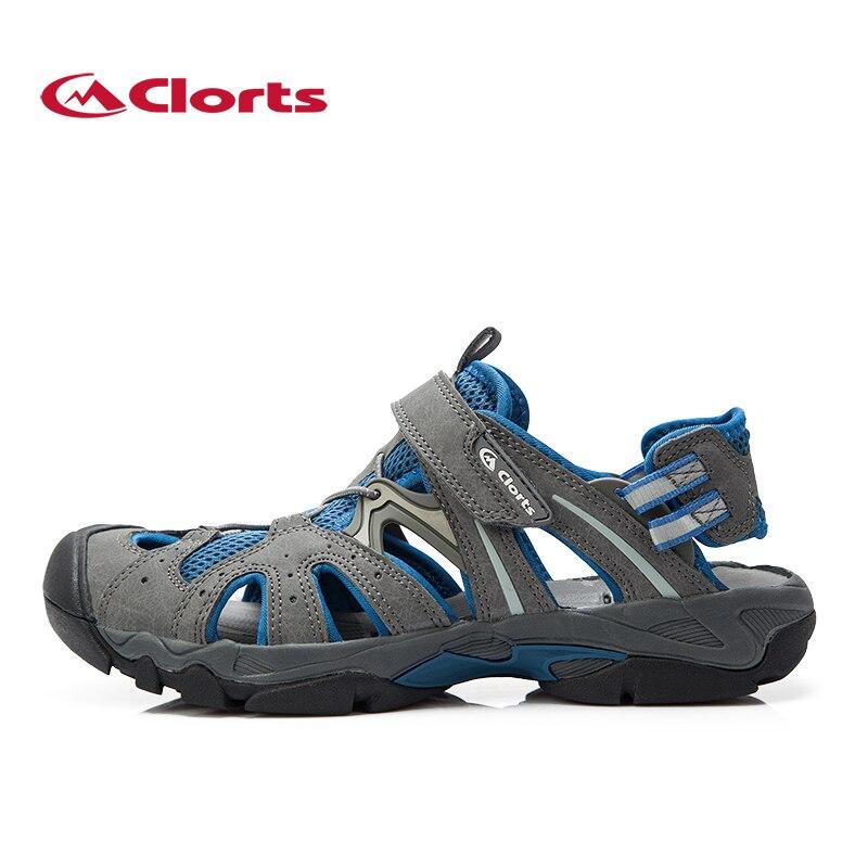 Clorts Для мужчин aqua водонепроницаемая обувь быстрый сухой летние пляжные босоножки из искусственной кожи вата Обувь спортивные Обувь для чел...