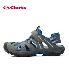 Clorts Männer Aqua Wasser Schuhe Quick-Dry Sommer Strand Sandale Schuhe PU Leder Watte Schuhe Sportschuhe für Mann SD-207B/C