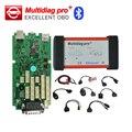 Alta Qualidade Um +++ Multidiag pro + TCS Bluetooth cdp para Car & Truck ferramenta de Diagnóstico 2014. R3/R2 opcional + cabos carro conjunto completo