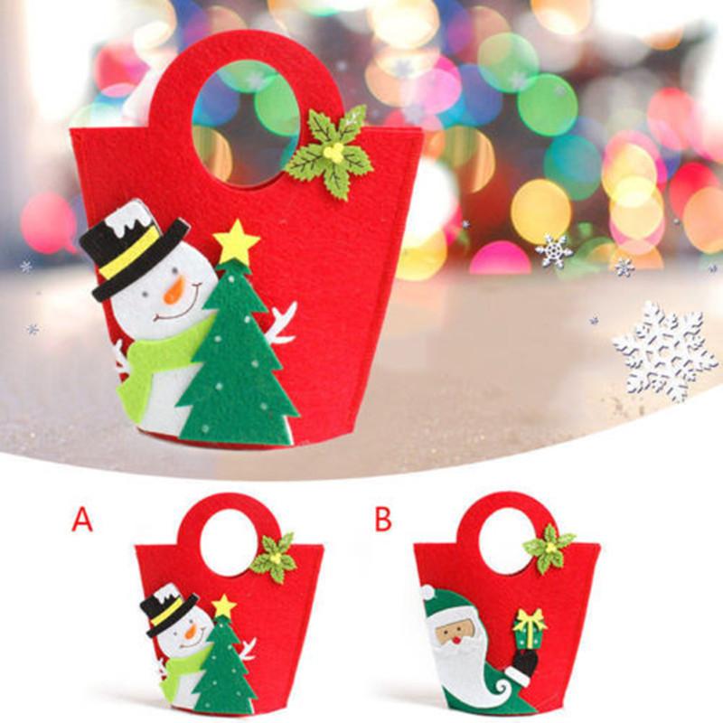 Fashion Christmas Gift Handbag Candy Bag Merry Christmas Candy Bags Souvenir Bag Xmas Storage Bags