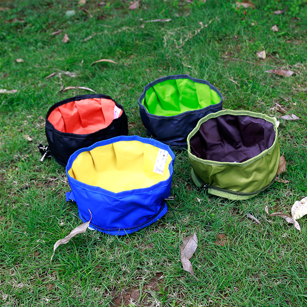 Pet Dog Feeders Folding Bowls Potable Bowls For Dogs Outdoor Travle Pet Dish