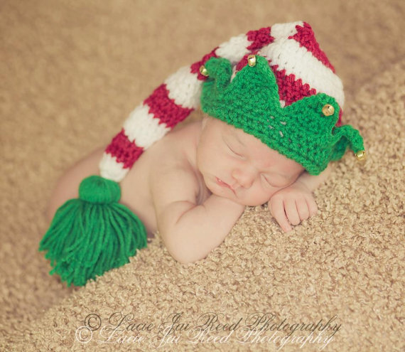 Free Shipping Handmade Baby Santa Hat Crochet Baby Boy Or Baby Girl