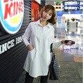 2016 nueva primavera camisas blusas de maternidad de manga larga tallas grandes mujeres camisas camisas embarazadas blusa ropa de maternidad 16393