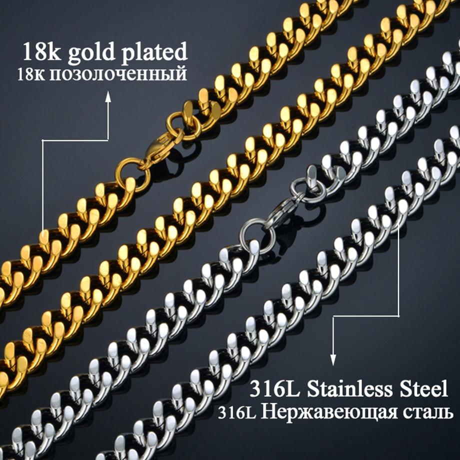 Vrat Heavy Gold lanac za muškarce Veliki dugi ogrlice Muška zlatna - Modni nakit - Foto 5