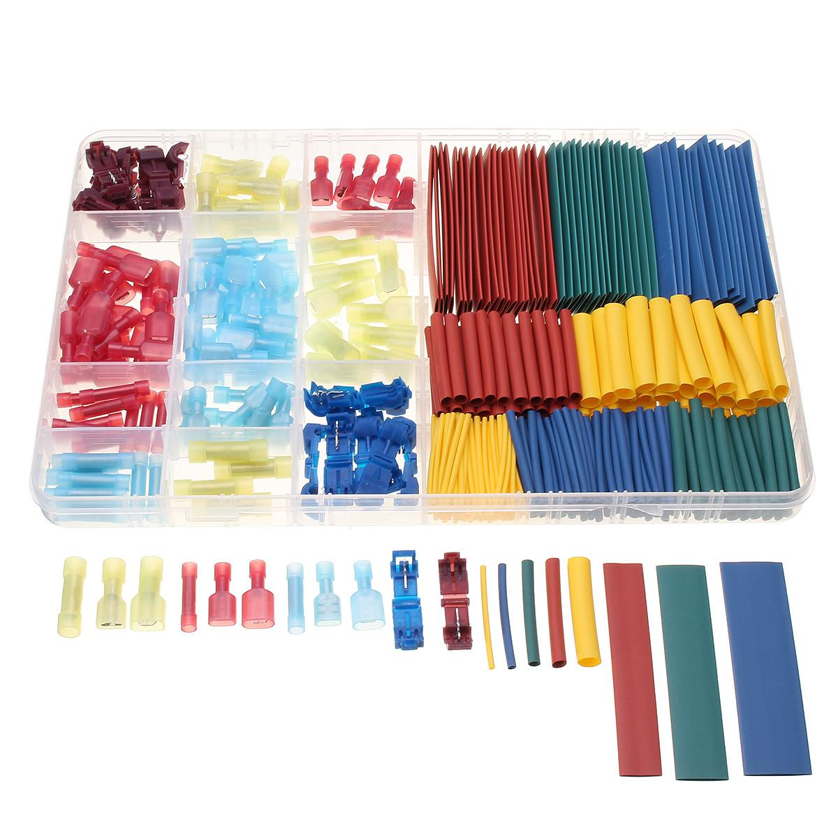 385pcs Heat Shrink Tube Sleeving Kit Set Car Wire Electrical Terminals Spade Male Female Butt Splice Lock Crimp Connector385pcs Heat Shrink Tube Sleeving Kit Set Car Wire Electrical Terminals Spade Male Female Butt Splice Lock Crimp Connector
