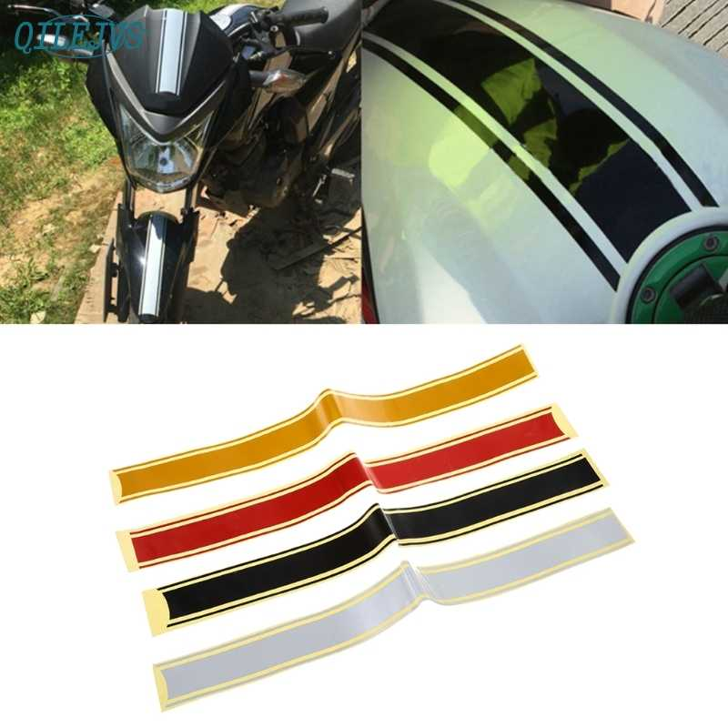 50 x 4.5 cm Motorcycle DIY Tank Fairing Cowl Vinyl Stripe Pinstripe Decal Sticker For Cafe Racer Dec21