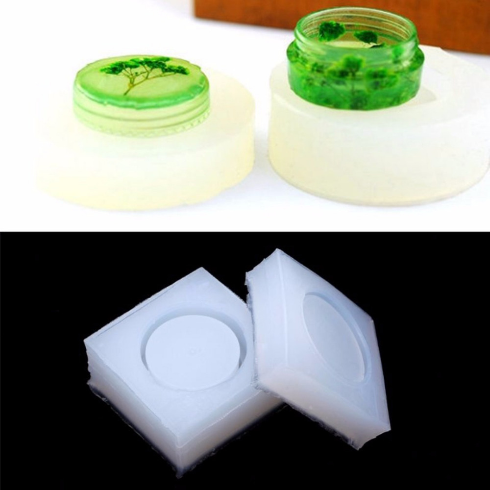 1 Set Shellhard DIY Round Silicone Mold Flexible Small Storage Box Making Molds Resin Mo ...