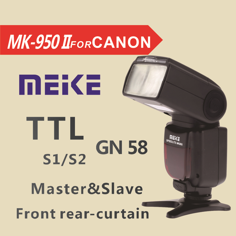 Meike MK950 II-C TTL professional flash speedlite mk950 II for Canon EOS 5D II 6D 7D 50D 60D 70D 550D 600D 650D 700D 580EX 430EX genuine meike mk950 flash speedlite speedlight w 2 0 lcd display for canon dslr 4xaa
