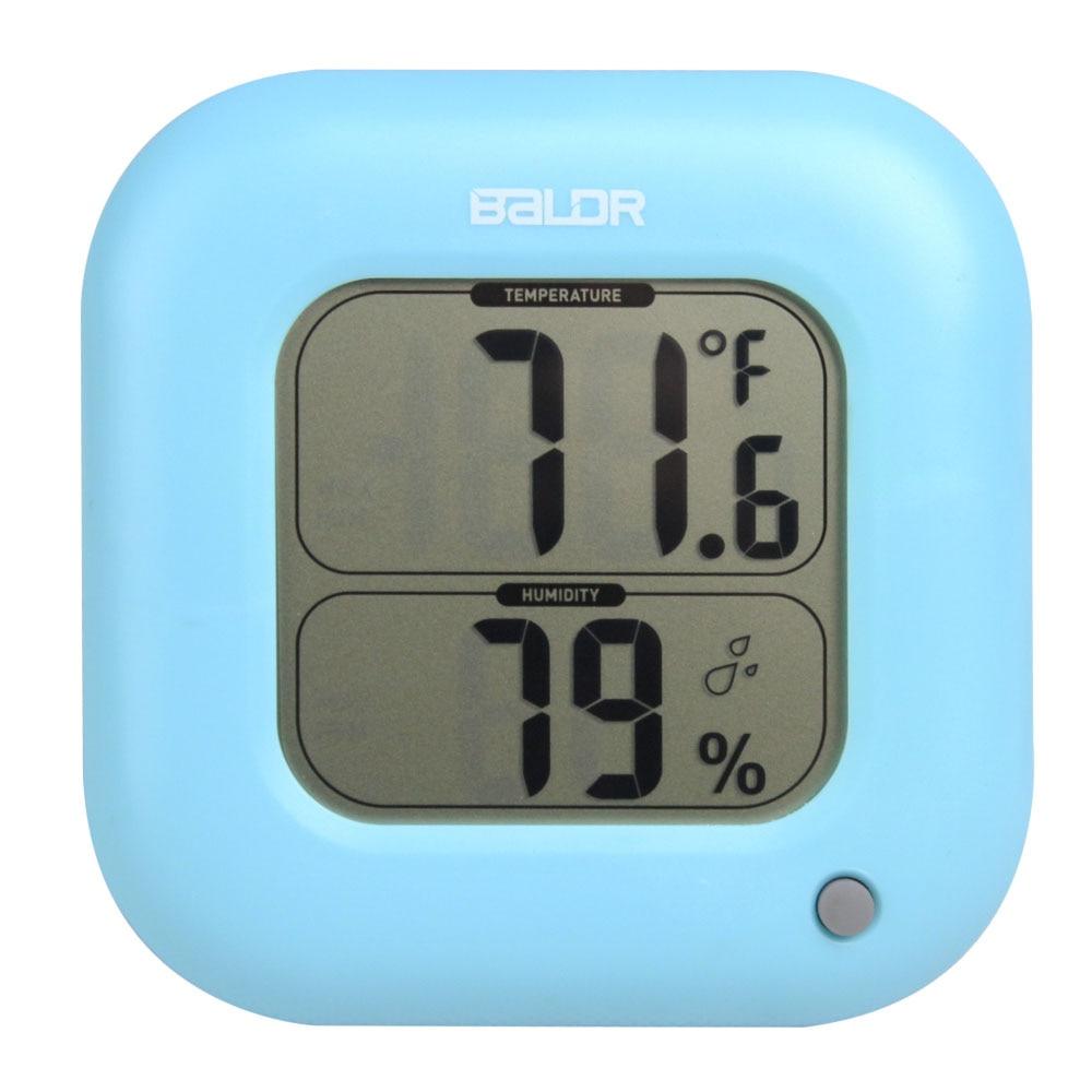 Baldr Digital Thermometer Hygrometer Indoor Max/Min Room Temperature ...