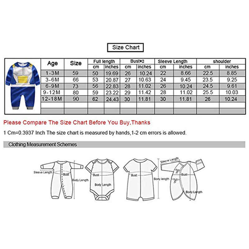11ea0603d ... Yierying Baby Clothes Newborn baby Rompers 100% Cotton Dragon Ball  Vegeta Jumpsuits Baby Lovely Long ...