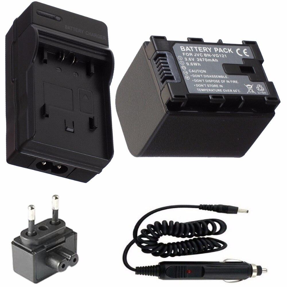 Battery and Charger For JVC Everio GZ GX1 GZ E10 GZ E100 GZ E105 GZ E15